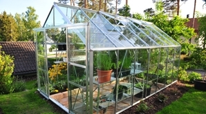 Replace greenhouse glass with acrylic greenhouse glazing