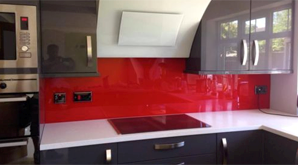 Acrylic Splashback Red 298X165