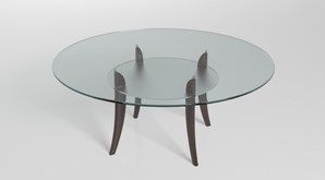 Clear Acrylic Round Table Top