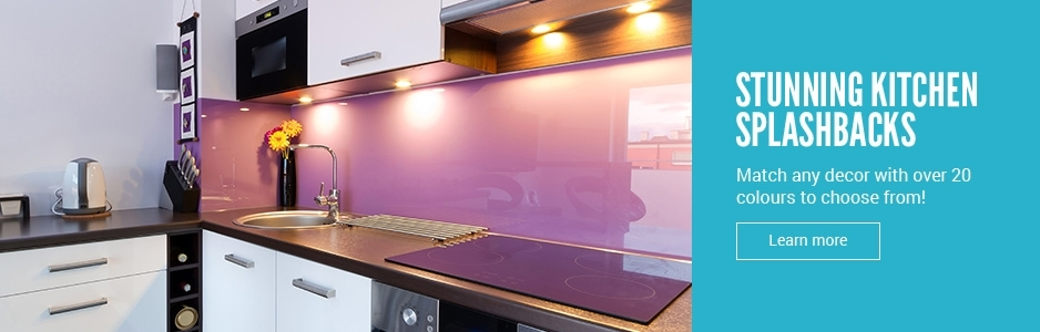 Stunning acrylic kitchen splashbacks available in over 20 colours