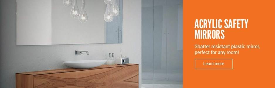 Acrylic mirrors suitable for indoor and outdoor usage