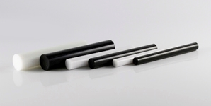 Extruded Acrylic Rod Black White 298X150