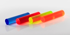 Fluorescent Extruded Acrylic Rod Cut To Size