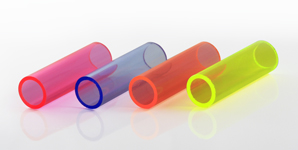 Flourescent Blue Acrylic Perspex® Hollow Tubes Various Diameters /& Stock Sizes