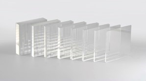WHITE GLOSS PERSPEX RECTANGLES 26  x 14 cm 5mm thick set of 4
