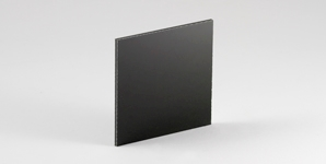 Black aluminium composite, also known as dibond or alupanel
