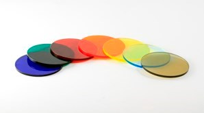 Disc Acrylic Transparent Colours 298X165