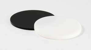 Disc Acrylic Block Black White 298X165