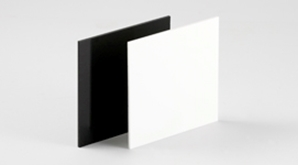 Acrylic Extruded Black White 298X150